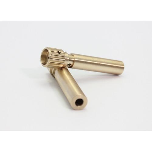 Brass Burly Splined Tubes